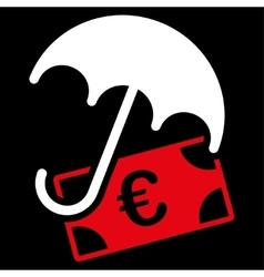 Financial insurance icon from BiColor Euro Banking vector