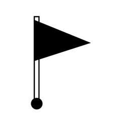 flag pin location web symbol vector image