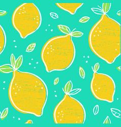 frash lemons modern beauty seamless vector image