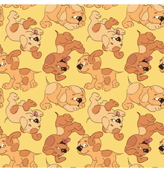 funny cartoon puppies vector image