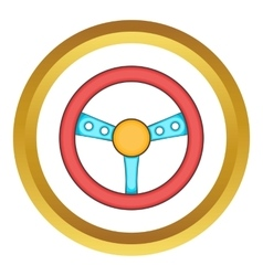 Game steering wheel icon vector image