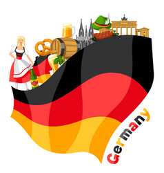 german background design germany national vector image
