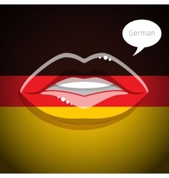 German language concept vector image