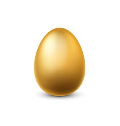 gold egg traditional easter golden glittering vector image