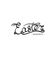 hand drawn inscription easter template with vector image
