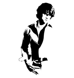 Handsome man silhouette vector