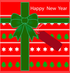 happy new year background gift box pattern vector image