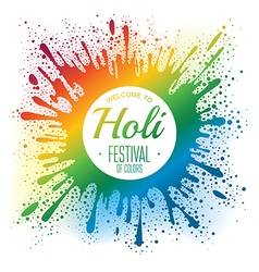 Holi festival poster vector image