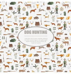 Hunting pattern Dog hunting equipment Flat style vector