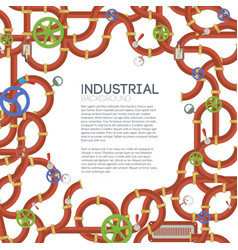 industrial manufacturing template vector image vector image