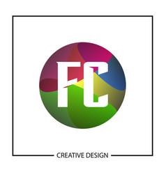 initial letter logo fc template design vector image