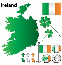 Ireland map small vector image
