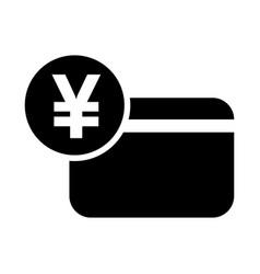 japanese yen credit card icon vector image