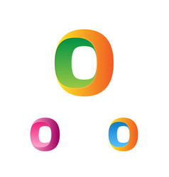 letter o logo template logotype set trendy vector image