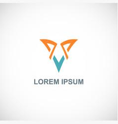 Letter v business logo vector