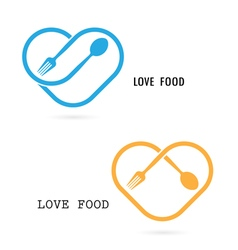 Love Food Logo vector image