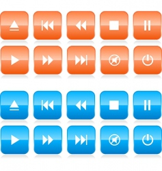 media player button set vector image