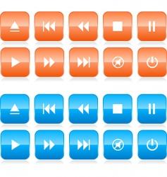 Media player button set vector