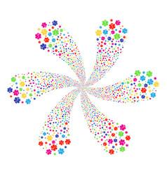 Medical emblem twirl flower cluster vector