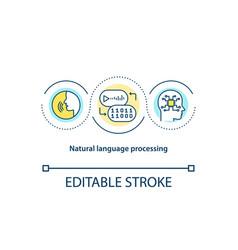 Natural language processing concept icon vector
