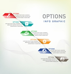 Option infographic vector image