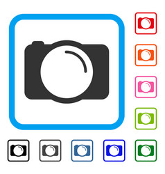 photo camera framed icon vector image