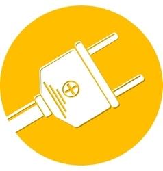 plugs icon vector image