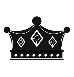 prince crown icon simple style vector image