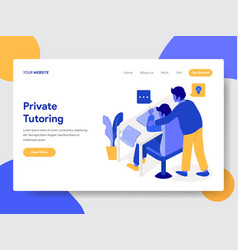 private tutoring concept vector image