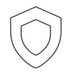Protection thin line icon safety and security vector