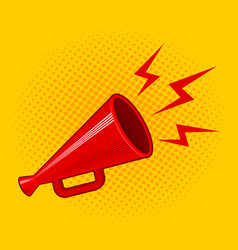 red retro megaphone vector image