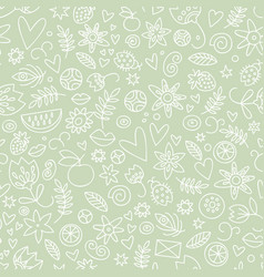 seamless pastel love pattern vector image
