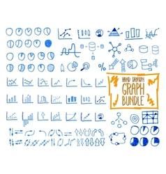 Set of outline doodle sketched hand drawn vector image vector image