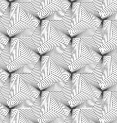 Slim gray linear stripes forming pyramids vector image