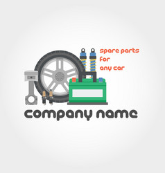 spare parts - company name vector image
