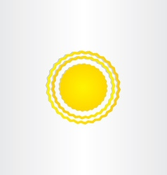 sun energy wave design vector image