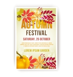 Template autumn festival for use in vector