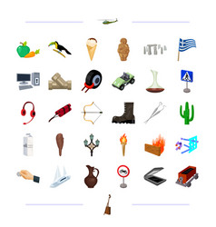 tourism technology nature and other web icon in vector image