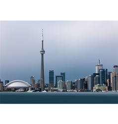 View of Toronto vector image