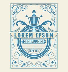 Vintage card with floral detail vector
