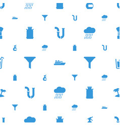 water icons pattern seamless white background vector image