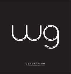 wg initial letter split lowercase logo modern vector image