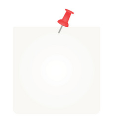 white pined empty note vector image