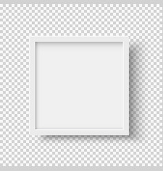 white realistic square empty picture frame on vector image