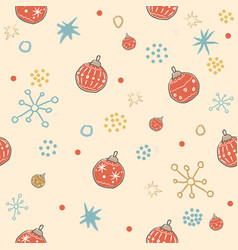 winter seamless pattern with festive red vector image