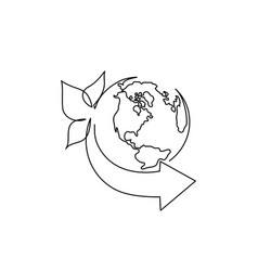 World environment day logo with earth with leaves vector