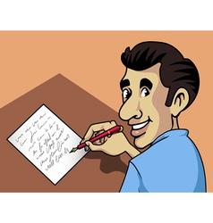 writing man vector image