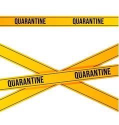 Yellow quarantine tape isolated on white vector