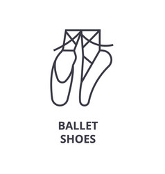 ballet shoes line icon outline sign linear vector image