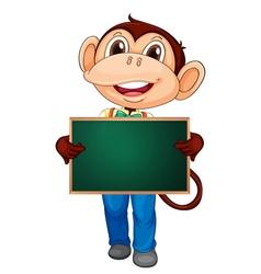Character Holding Blackboard vector image vector image